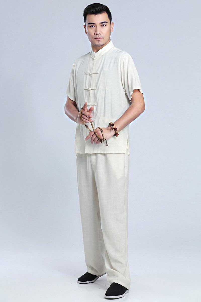 Купить с кэшбэком Summer T-shirt Chinese Traditional Men Kung Fu Party Cotton Tops Size M-3XL
