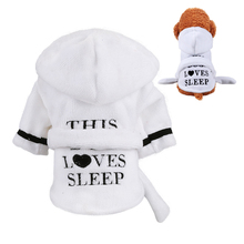 Pet Dog Bathrobe Warm Clothes Super Absorbent Drying Towel Bath Grooming Cat Water-absorbing