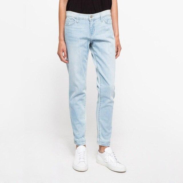 1194bcaf546 Straight-Summer light blue outfit size women jeans waist slimming feet  pencil Blue women jeans women long pants