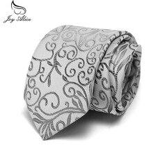 купить Men's 7.5 cm Fashion White Black Ties Purple Floral Tie Necktie Red Wedding Neck Tie For Men Formal Business Suit по цене 174.23 рублей