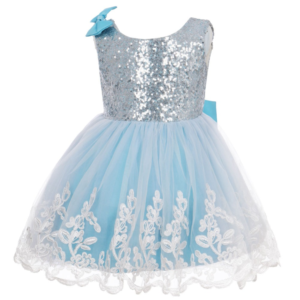 Kids Sequins Princess Baby Flower Girl Dress Backless Tutu Party Gown Wedding Birthday Party Bridesmaid Flower Girls Dress
