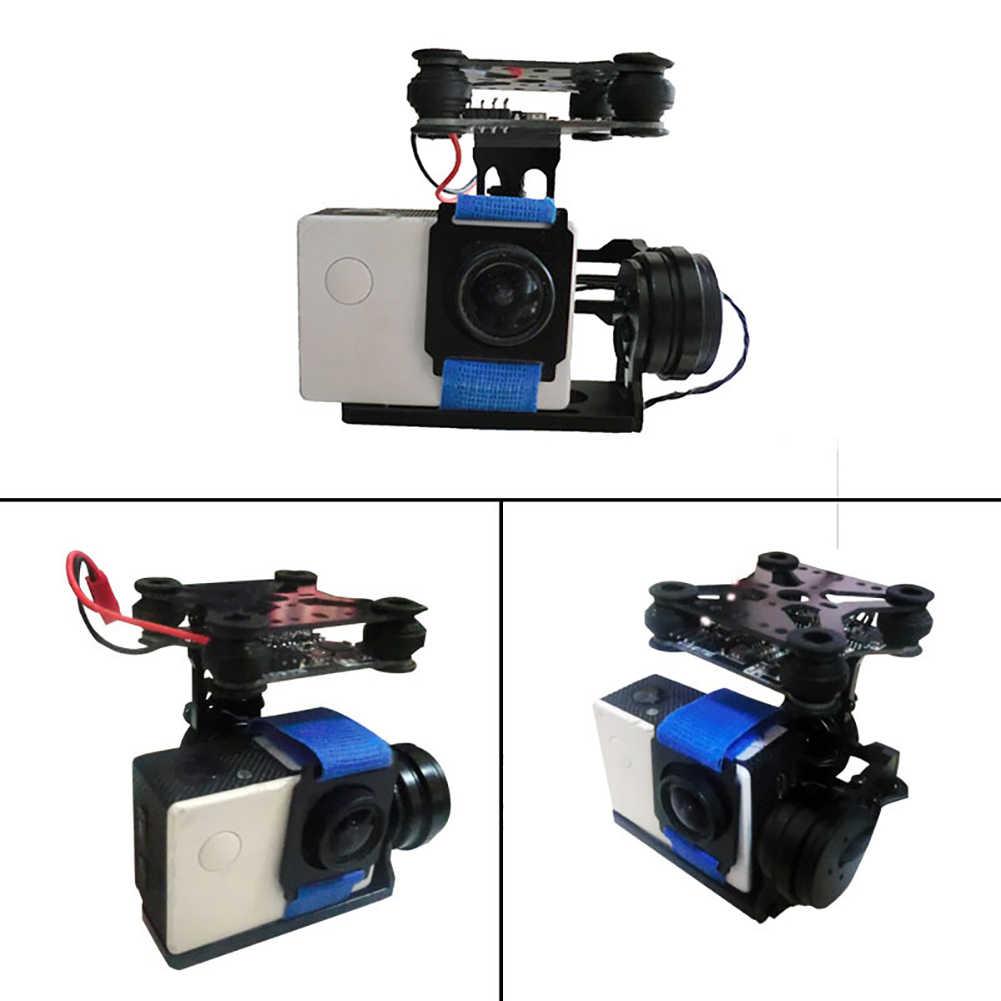 С винтовым датчиком бесщеточный Профессиональный карданный подвес алюминиевый сплав фотография прочный воздушный контроллер 2 оси для камеры GoPro