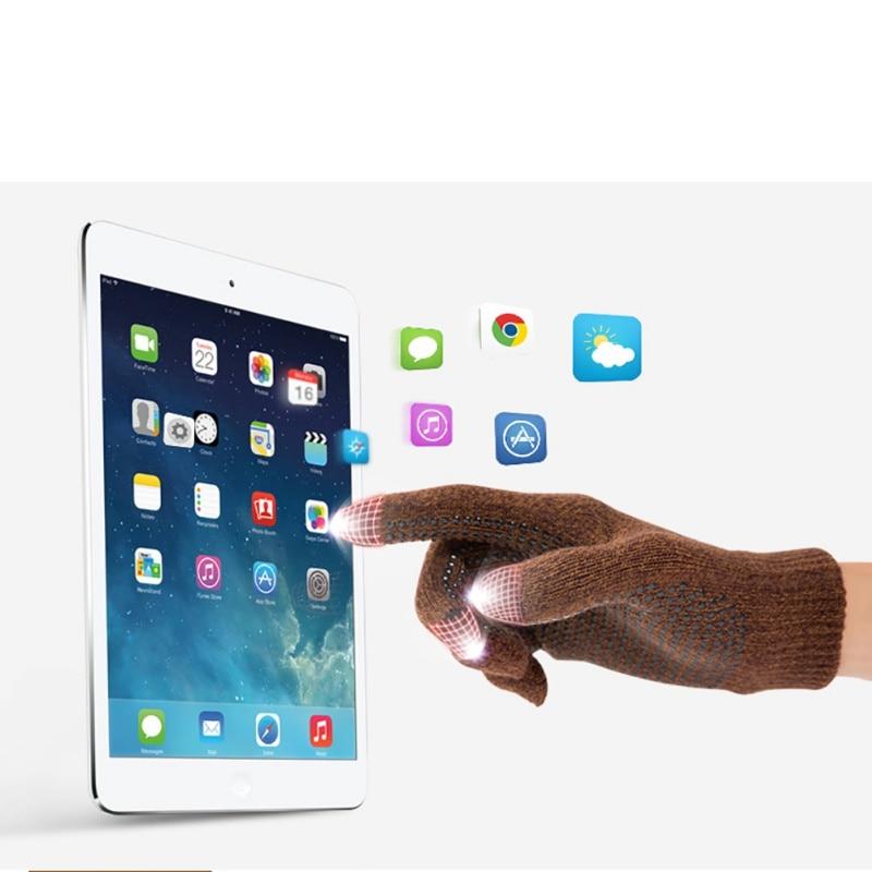 Утепленные вельветовые сенсорный экран вязаные Перчатки для Для женщин/Для мужчин зимние теплые сенсорном экране для мобильного телефона ...