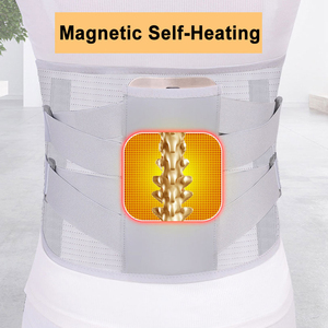 Image 3 - Orthopedic Tourmaline Self heating Magnetic Steel Bone Waist Widen Belt Men Women Lumbar Support Back Brace Belt With 3pcs Pad