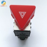 ELISHASTAR New Dark Red Hazard Warning Flash Switch for VW Touran Caddy OEM 1T0953509