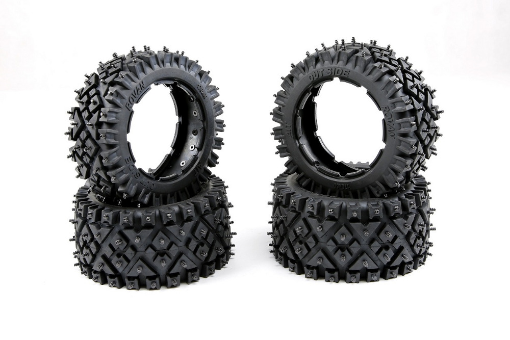 Front & rear All terrain nail tire set for 1/5 hpi rovan km baja 5b ss parts lacywear km 34 all