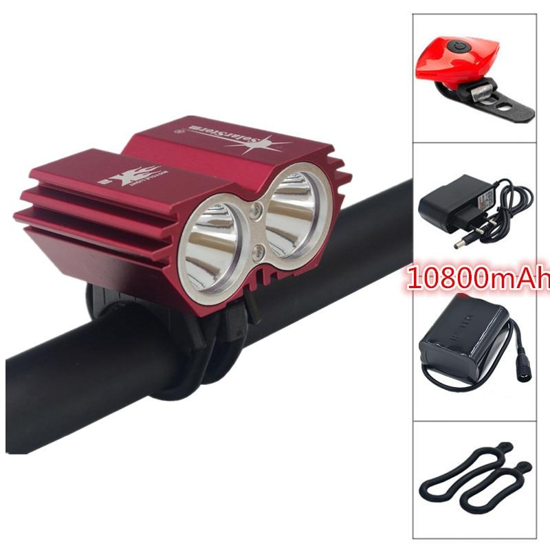 Soldes! SolarStorm 5000 Lumen étanche XML U2 LED vélo lumière vélo lumière lampe + batterie + chargeur + vélo feu arrière