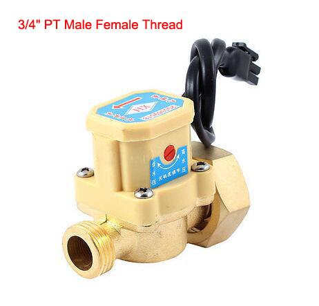 3/4 PT Male To 3/4 PT Female Thread 90W/120W/260W/350W/850W Pump Flow Sensor Liquid Switch for Water Heater ksol new style 26mm 3 4 pt thread connector 120w pump water flow sensor switch