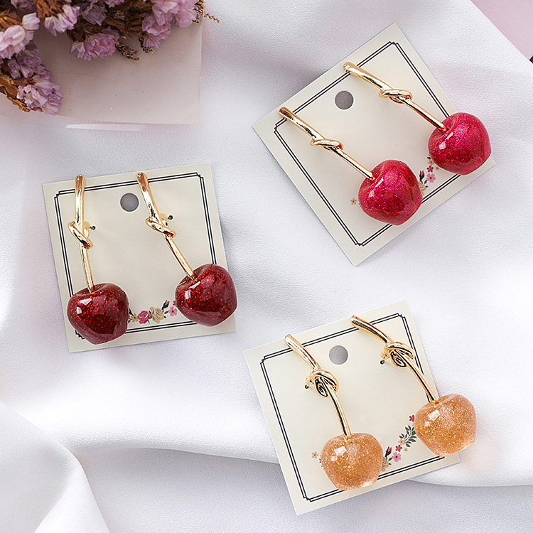Cute/romantic Round Women Dangle Earrings Sweet Cherry Cherry Earrings Earrings For Women Drops Earrings 8