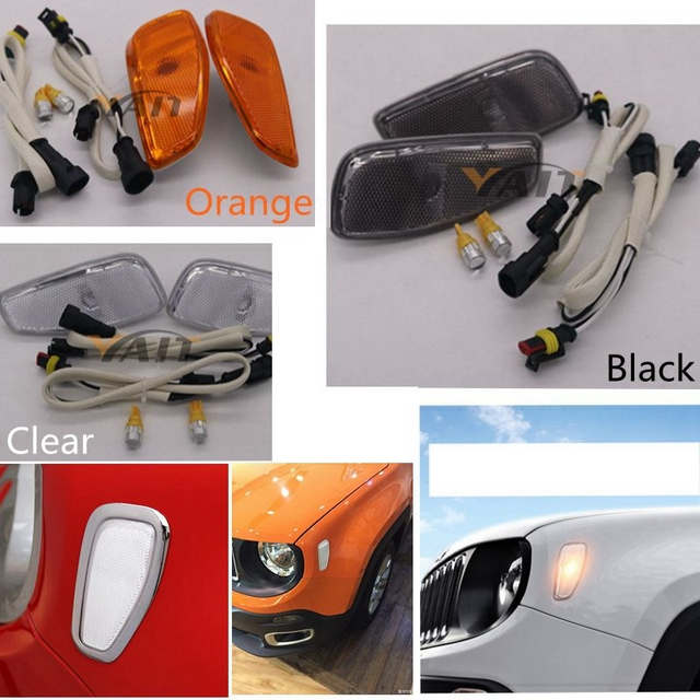 For Jeep Renegade Led Side Reflection Warning Turn Signal Light Lamp
