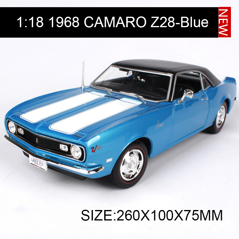 1:18 diecast Car 1968 Chevy CAMARO Z28 Muscle Cars 1:18 Alloy Car Metal Vehicle Collectible Models toys For Gift защитная плёнка для philips xenium v526 суперпрозрачная luxcase