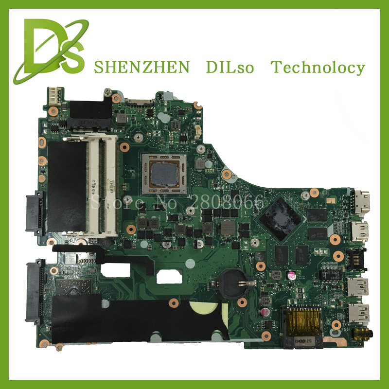 For ASUS X550ZE  laptop motherboard X550ZE AMD mainboard LVDS interface with Graphics card 100% tested