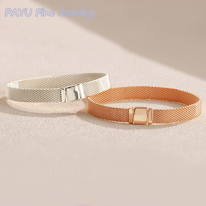 PAYU High Quality Silver 2018 Winter New Collection Reflecxions Bracelets For Women Fine Jewelry valentines day
