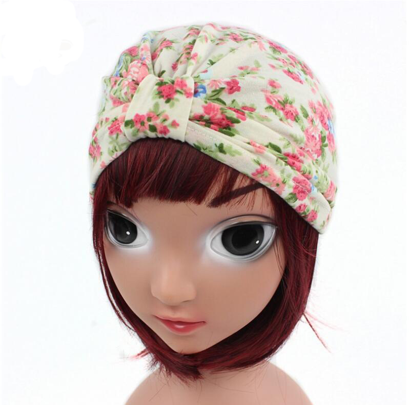 New arrival children india hat vintage flower Turban cap kids beanie hats baby hats caps dome hats for spring and fall new arrival lovely newborn hospital hat cute girls baby hats with flower bowknot flower hat high quality