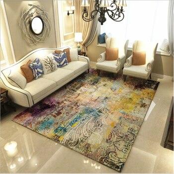 Современные изящные креативные большие ковры в абстрактном стиле для гостиной, спальни, домашние коврики, мягкие двери, домашний ковер, две...