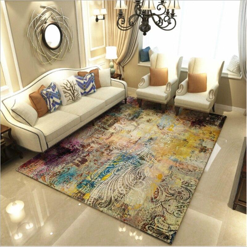Moderne délicat Style abstrait créatif grands tapis pour salon chambre tapis maison plancher tapis doux porte maison tapis porte tapis