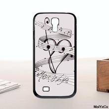 MUSIC NOTES BOX MUSIC IS LIFE Novelty Fundas Phone Case Cover For s4 mini case