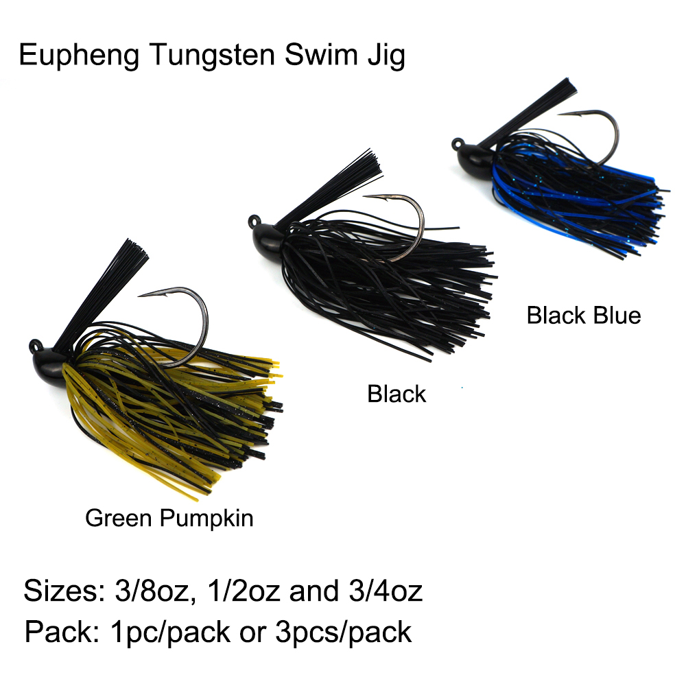 Eupheng Tungsten Swim Jig Head Silicon Rubber Case Skirt For Designed For Flipping Pitching Casting Quality Tungsten Jig Head