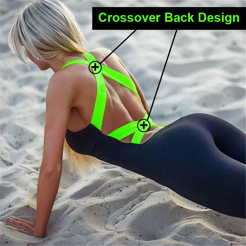 One Piece Sport Clothing Backless Sport Suit Running Tight Dance Sportswear Gym Yoga Women Set