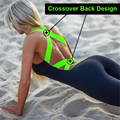 2019 Workout Tracksuit For Women One Piece Sport Clothing Backless Sport Suit Running Tight Dance Sportswear Gym Yoga Women Set