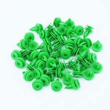 50Pcs Car Door Panel Trim Fasteners Plastic Green Clips for Chrysler WJ For Jeep Grand Cherokee