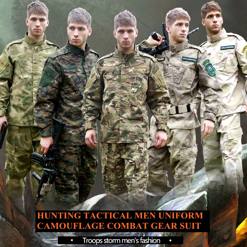 U.S Army  Multicam Camouflage suit Tactical Military combat Airsoft uniform -jacket + pants men army uniform camouflage suit sets army military uniform combat airsoft war game uniform jacket pants uniform
