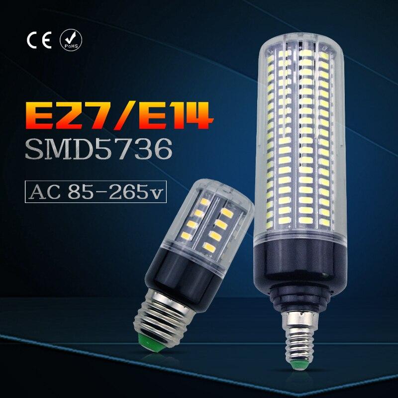 LED Corn Lamp E14 No Flicker E27 AC85-265V No Flicker Living room LED Energy saving lights SMD5736 3.5W 5W 7W 9W 12W 15W 20W