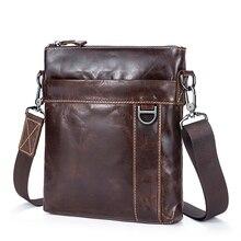 New Arrivals Luxurious Genuine Leather Men Messenger Bags Guaranteed Cowhide Multi-function Man Cross-body Bag Bolsa Masculina