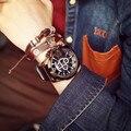 2016 Grandes Hombres de Línea Relojes de Primeras Marcas de Lujo de Cuarzo Ocasional Reloj de Cuero Militar Reloj de Pulsera de Hombre Reloj de Los Hombres Relogio Masculino