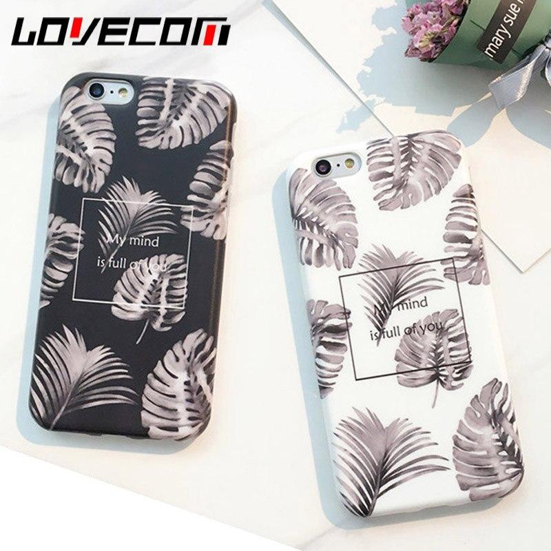 Moda suave imd lovecom hojas case para iphone 6 6s 7 además de Plantas de Hoja D