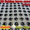 2016 NOVA isca de pesca 3D olhos voar olhos escolher tamanho: 3MM--12MM quantidade: 500 pçs/lote artificiais realistas olhos de pesca cor: sliver