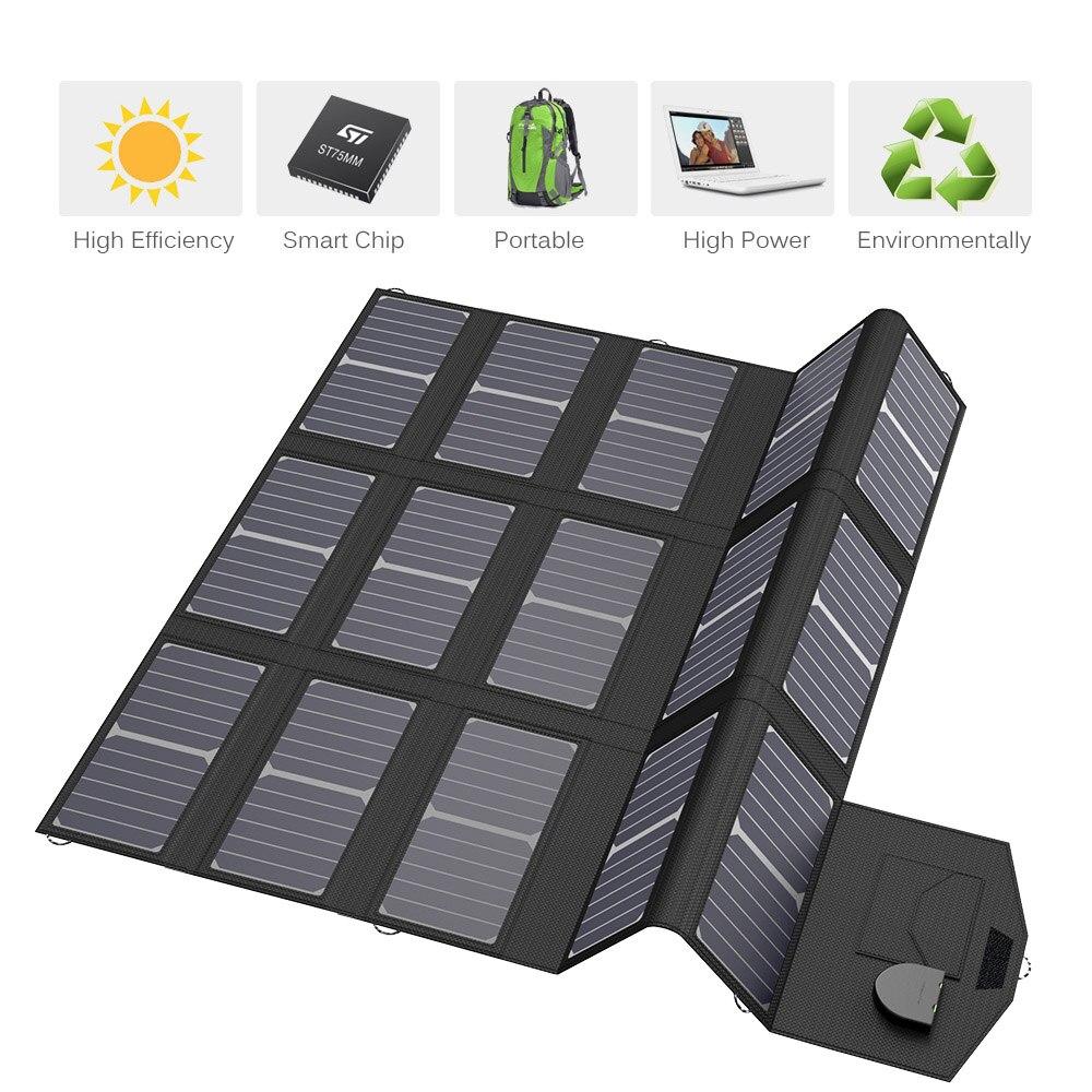 100 W panneaux solaires 5 V 12 V 18 V 100 W chargeur de panneaux solaires pour iPhone iPad Macbook Samsung LG Hp ASUS Dell batterie de voiture et plus encore.