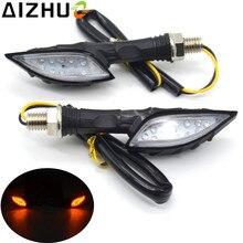 1 Paia Moto 12 LED Indicatore di Direzione 12 V Per Moto Universale Indicatore Luci Blinker Lamp Motore Fantasma Nero artiglio