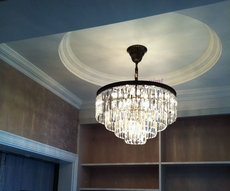 kiváló minőségű k9 kristály medál kör alakú galvanikus - Beltéri világítás
