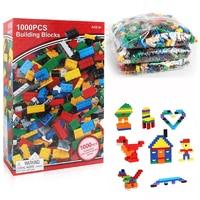 1000 Pcs DIY Building Blocks Kids Creative Bricks Toys For Children Compatible With Legoe Blocks Christmas