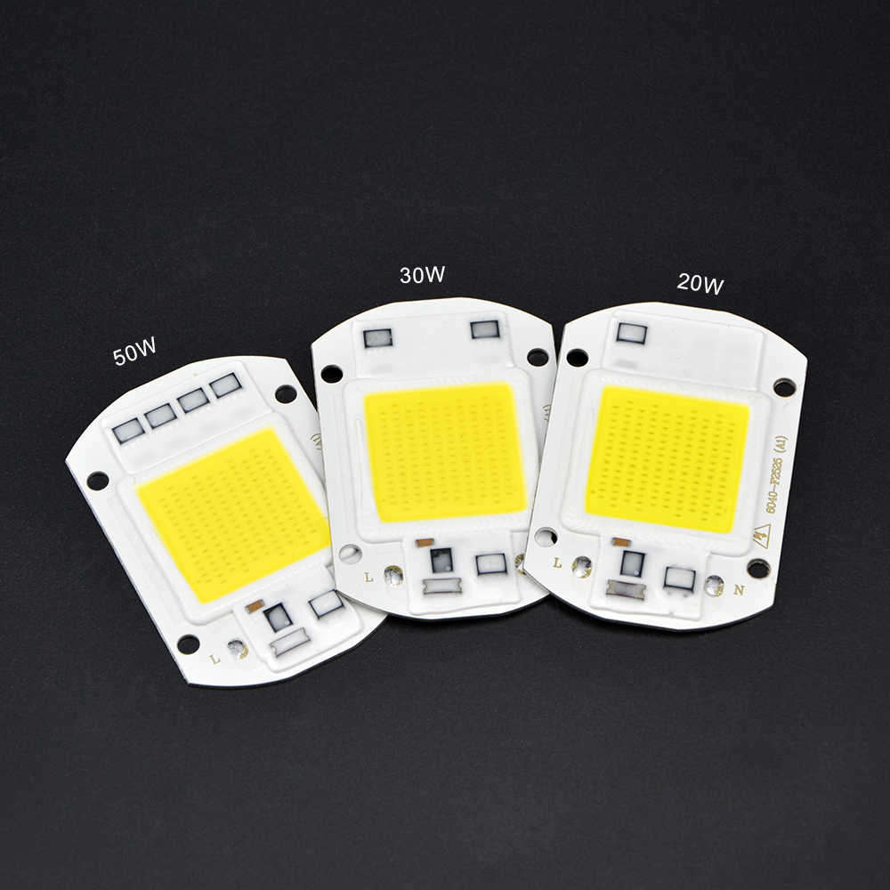 High Power COB LED Integrated Chip Smart IC Control Good Heat Dissapation10W 20W 30W 50WLED Light Source Garden Lawn Lighting