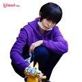L-e-mail Anime Matsuno Osomatsu Cosplay Perucas de Cabelo Sintético Curta Preta dos homens