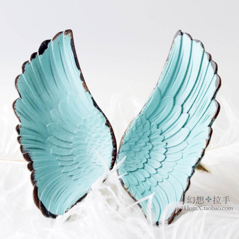 One pair Angel wings Small handle Single hole Modern minimalist Children's room with wardrobe door Shoe cabinet Drawer handle