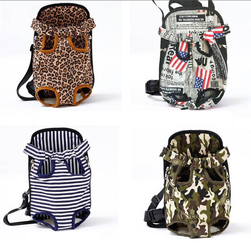 Venxuis Breathable Pet Dog Carrier Backpack Camouflage Shoulder Handle Bags for Small Dog Mesh Outdoor Travel