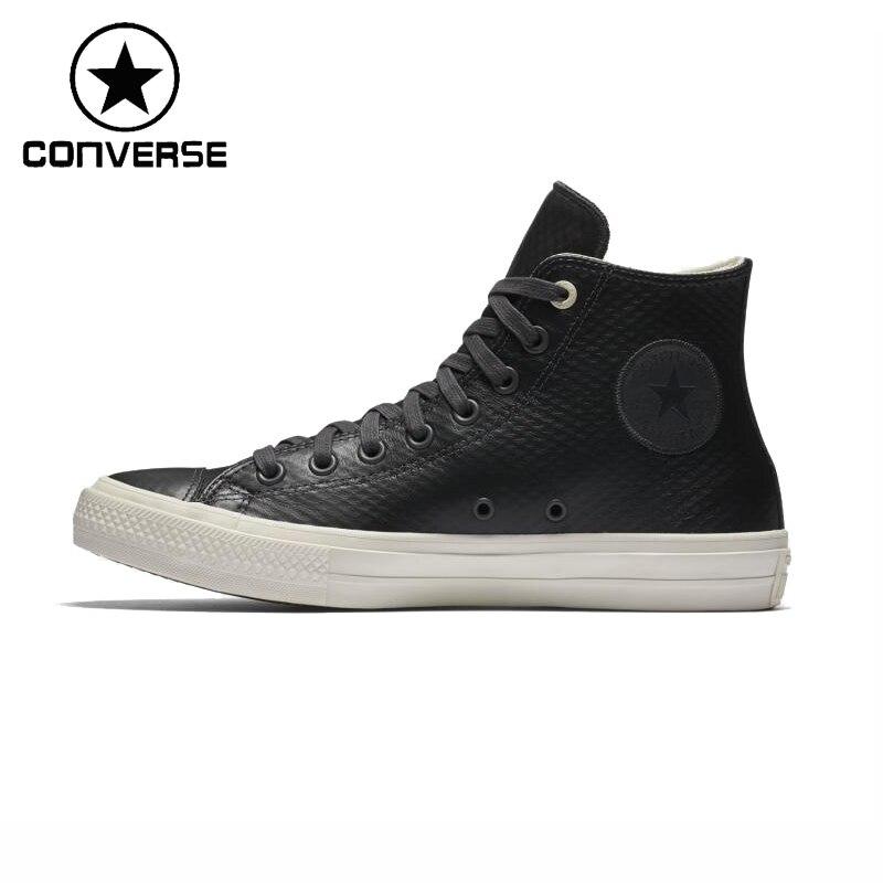 Prix pour Original Nouvelle Arrivée Converse ALL STAR Unisexe Planche À Roulettes En Cuir Chaussures Sneakers