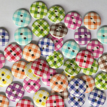 50pcs 2 Holes Wooden Buttons Sewing Buttons Craft Scrapbooking Clothing Accessories 13mm 15mm Apparel Sewing Fabric Round Button