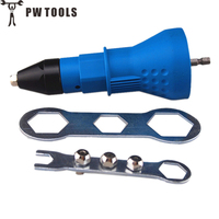PW TOOLS Electric Rivet Nut Gun Riveting Tool Cordless Riveting Drill Adaptor Insert Nut Tool Riveting