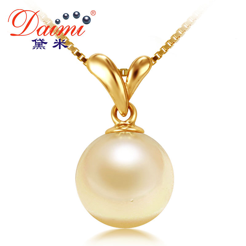 necklace baroque pearl gold pendant iris yellow
