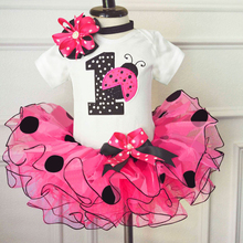 Newborn Little Girl Dress For Girl Summer 2018 Clothes Toddler Bebes Party Dresses Tutu Lace Baptism Gowns for One Year old Baby