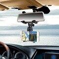 Universal de 360 grados soporte para teléfono del coche del espejo retrovisor del coche titular de montaje horquilla del soporte para el iphone para samsung teléfono móvil gps