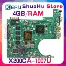 цена на KEFU For ASUS X200CA X200C REV2.1 1007U 4G/Memory laptop motherboard tested 100% work original mainboard