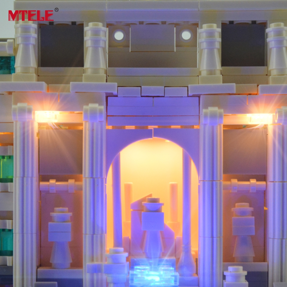 MTELE Brand LED Light Up Kit Untuk Trevi Fountain Architecture Siri - Mainan pembinaan - Foto 6