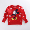 Boys Fashion Sweater Pullover 2017 Spring Cartoon Kids Knitwear Sweater Kids Vest Knitted Wool Knitwear Girls Cardigan Outwear