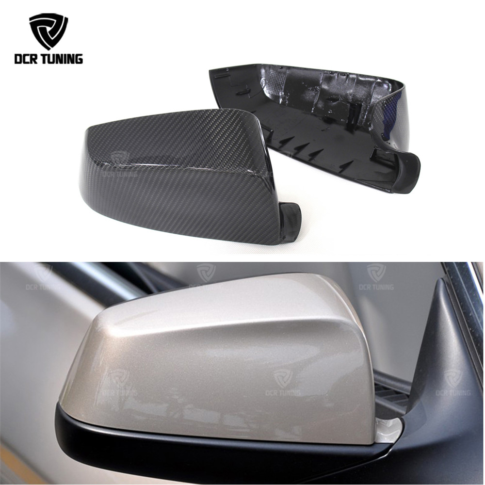 Carbon Fiber Rear View Mirror Cover For BMW 5 6 7 Series F07 F06 F12 F13 F01 2009 - 2013 Add On Style & Replacement Style
