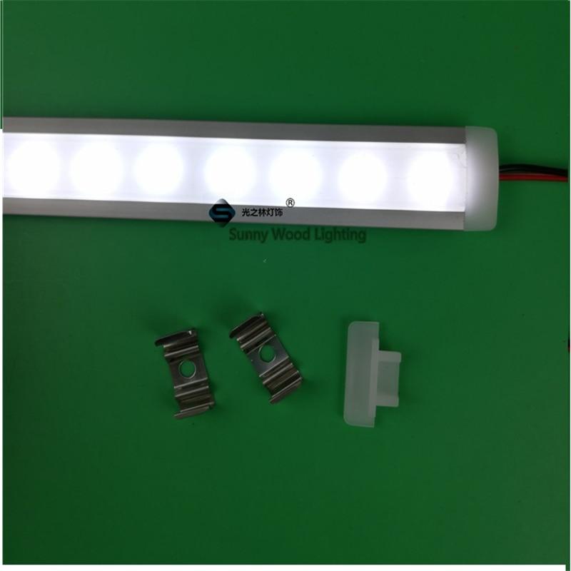 5pcs / lot 0.5m / pc 12V 6W integró el perfil de aluminio del canal - Iluminación LED